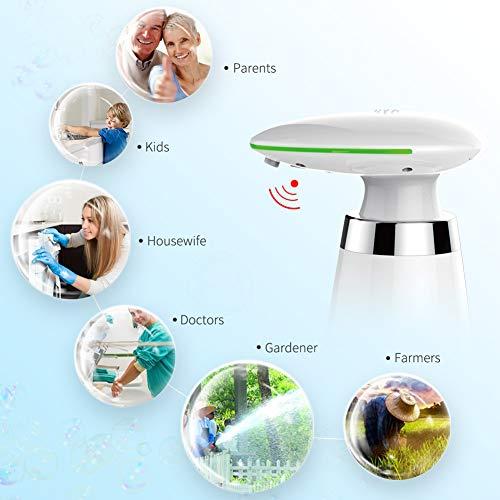 SVAVO Automatic Sensor Soap Dispenser - 11.5OZ Capacity Infrared Motion Sensor Touchless Countertop Soap Dispensers for Smart Home, Dispensary, Clinic, School, Adjustable Soap Dispensing Volume, White