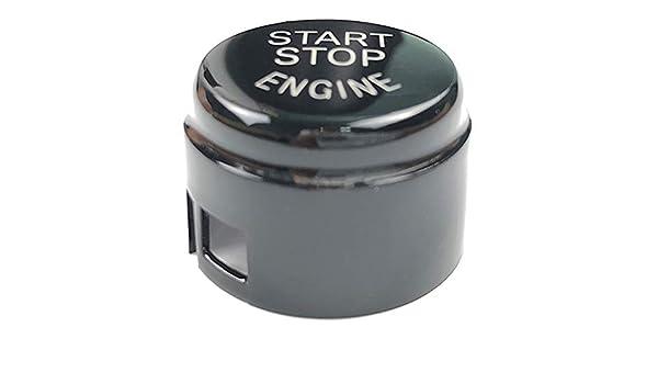Leaftree Push Button Start Button Stop Button ABS 3D Carbon Fiber Vinyl Car Engine One-Button Start G//F Chassis