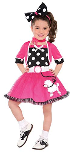 amscan Rockin' 50s | Doo Wop Darling Costume | Toddler -