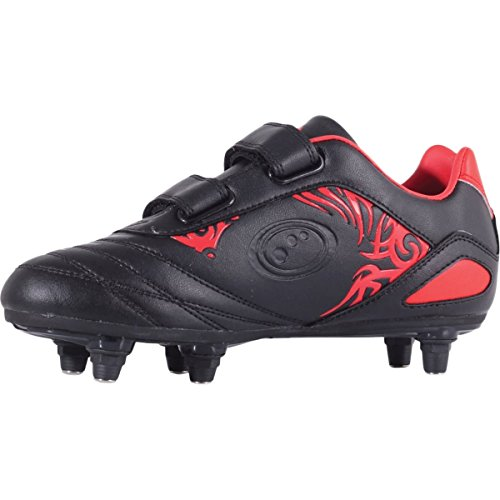 Optimum Velcro Fußballschuhe 6 Rot Red Jungen Stud Black Razor ABqAwnUxa4