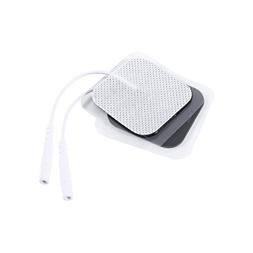 Almohadillas de electrodo - Nuevo 4x4cm Reemplazo Autoadhesivo Digital Therapy Electrode Almohadillas, 10Pcs