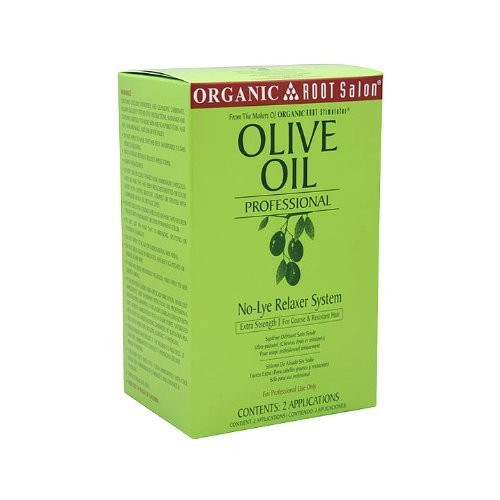Organic Root Stimulator Olive Oil Professional No-Lye Relaxer System, Extra Strength, 48 Ounce by Organic Root Stimulator Professional Relaxer System