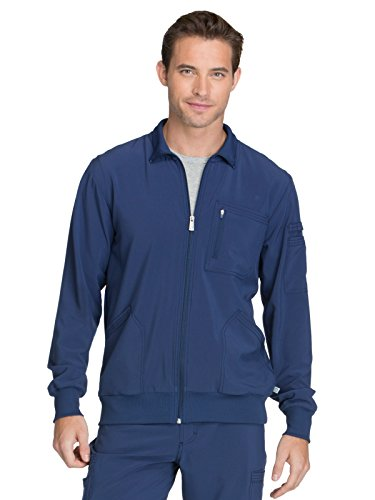 Cherokee Infinity CK305A Men's Zip Front Warm-Up Jacket Navy L