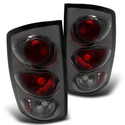 Spec-D Tuning LT-RAM02G-TM Dodge Ram 1500 2500 3500 Smoked Altezza Tail Lights Lamps (Dodge Ram 1500 Back Bumper compare prices)