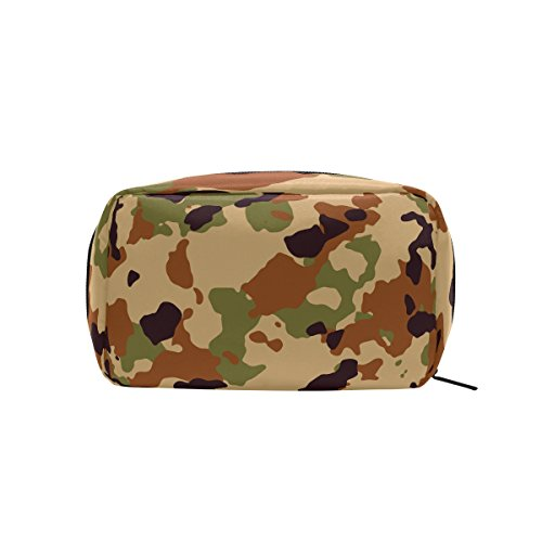 Military Camo Camouflage Pattern Print Makeup Bag Multi Compartment Pouch Storage Cosmetic Bags by super3Dprinted