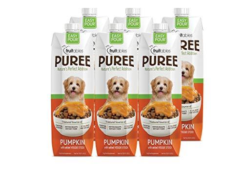 Fruitables Easy Pour Puree Digestive Dog & Cat Supplements (Pumpkin, 6 Pack (202.8 Ounces -