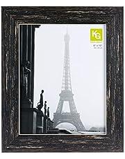 "kieragrace Emery Picture Frame - 8"" x 10"", Resin(Plastic), Barnwood Finish"