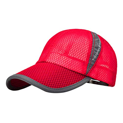 - Hot Sale!UMFun Fashion Unisex Breathable Quick Dry Mesh Baseball Cap Sun Hat (Red)