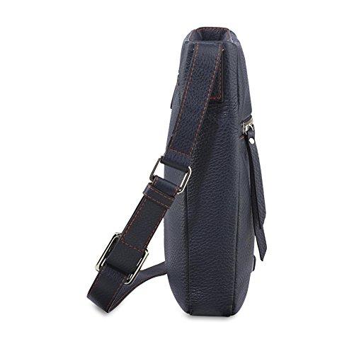 PICARD Dakota 4378 Tasche Damen Leder Umhängetasche 24x24x4 cm (BxHxT), Farbe:Navy