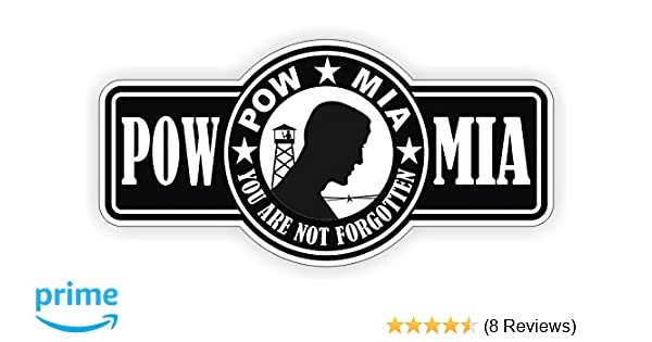 NEW 34 Motor Cycle helmet DECALS POW-MIA Hardhat Stickers ALL THE BEST
