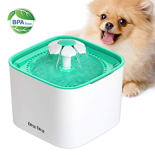- Katzetatze Pet Fountain Cat Water Dispenser, Healthy And Hygienic Drinking Fountain 2L Super Quiet Automatic Water Bowl With Filter For Cats, Dogs, Birds And Small Animals (Pet Fountain)