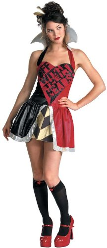 Queen of Hearts Halter Costume Size: Small - Alice In Wonderland White Queen Costumes