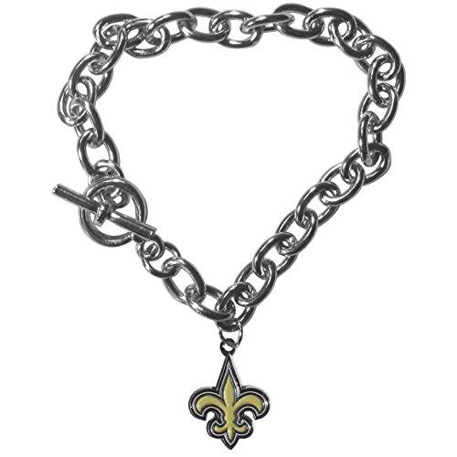 Nfl Charm Bracelet (NFL New Orleans Saints Charm Chain Bracelets)