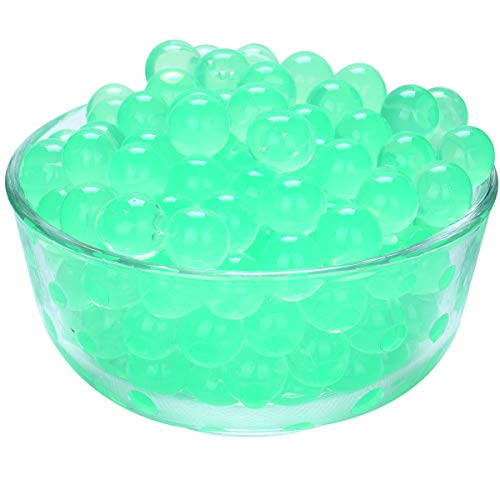 LOVOUS 3000 Pcs Water Beads, Crystal Soil Water Bead Gel, Wedding Decoration Vase Filler - Furniture Decorative Vase Filler, All Occasion Table Centerpiece Decorations (Green)