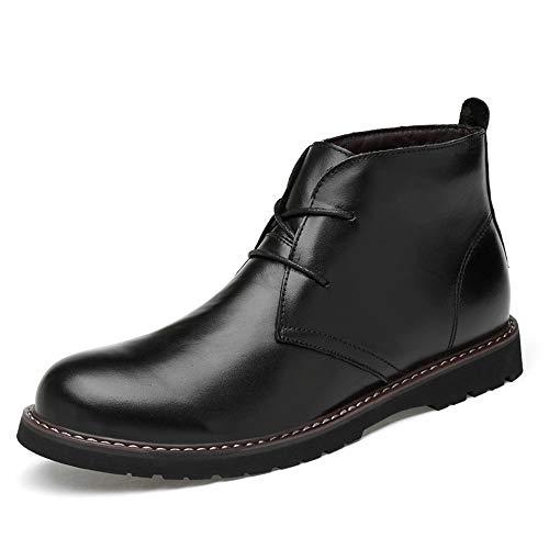 Xujw-shoes, Stivali da Uomo 2018, Stivaletti da uomo, Casual New Soft High Top High-end in pelle oxford cotone scarpe da lavoro calde (convenzionale opzionale) (Color : Nero, Dimensione : 36 EU) Nero