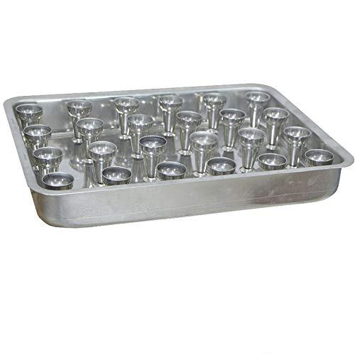 Forma Retangular Aluminio N.5 Para Pizza Cone 15cm com 48cones - Gastrobel