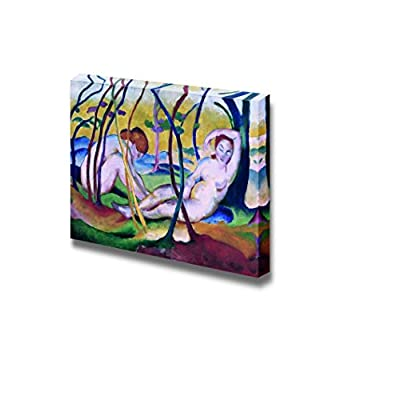 Crafted to Perfection, Majestic Creative Design, Nudes Under Trees by Franz Marc Print Famous Painting Reproduction