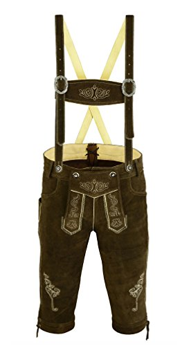 Trends-Mens-Bavarian-Trachten-Lederhosen-Leather-Shorts