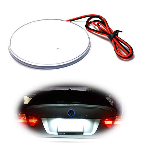 iJDMTOY (1) Blue LED Illuminated Emblem Background Lighting Kit For BMW Front Hood or Rear Trunk 3.25-Inch 82mm Roundel Emblem