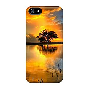Tpu Phone Case With Fashionable Look For Iphone 5/5s - Sunset 09