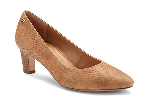 (Vionic Women's Madison Mia Heels - Ladies Pumps with Concealed Orthotic Support Brown Snake 9.5 M US)