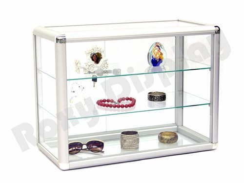 (SC-KDTOP) COUNTER TOP GLASS CASE, Standard Aluminum Framing With Sliding Glass Door And Lock by Roxy Display (Image #2)