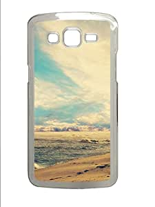 Samsung Galaxy Grand 2 7106 Cases & Covers -Beach Waves At Sunset Custom PC Hard Case Cover for Samsung Galaxy Grand 2 7106¨C Transparent