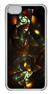Art Deco Feeling Personalized Custom Hardshell Back Case for iphone 5C Transparent -1126064