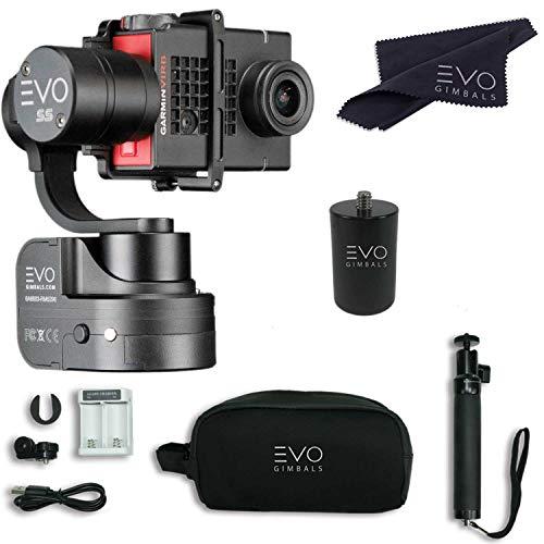 EVO SS 3 Axis Wearable Gimbal - Stabilizer for GoPro Hero4, Hero5, Hero6 Black, Yi 4K+, Garmin Virb Ultra 30-1 Year USA Warranty | Bundle Includes: EVO SS Gimbal + ()