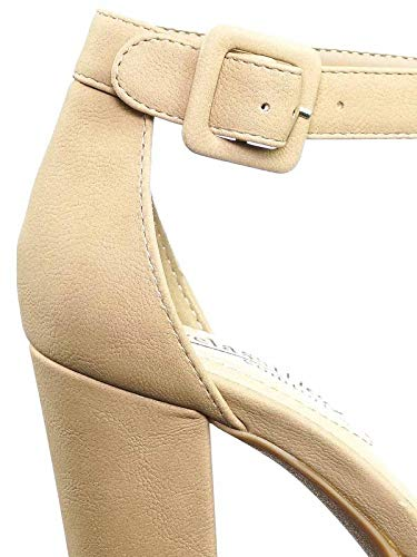 0d4aac30ecc City Classified Chunky Block Heel Dress Pump w Comfortable Foam Padding    Ankle Strap