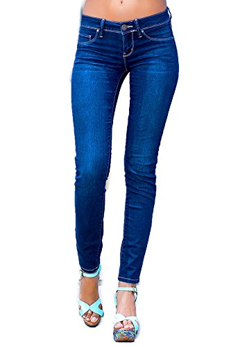 YMI Juniors Basic Skinny Legging Jean (1, Nwbleach S08)