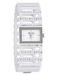 Marciano Women's | Fashion White Rhinestone Accented Ladder Bracelet Watch | FH0026
