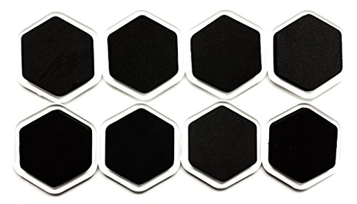 JF Hexagon Carpet Furniture Sliders 8-PieceFor Moving Furniture and Protect Floor. (Rorschach Halloween Mask)