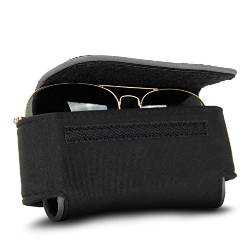 USA Gear Eye Glasses / Sunglasses Holder Soft Adjustable Case with Belt - Usa Manufacturers Eyeglass