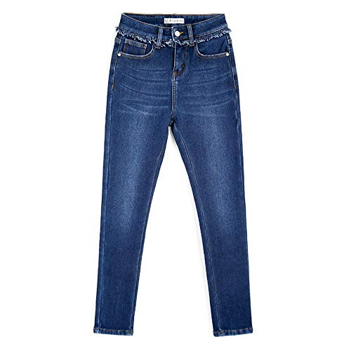6xl Vita Jeans Pencil Winter 4l Plus Skinny Style Fleece Full Alta Bleached Length Xl Size L Casual Rlwfjxh Donn Donna New Pdw77q