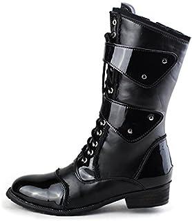 LOVDRAM Stivali da Uomo Martin Boots Uomo Autunno E Inverno Moda Stivali Stivali Lunghi Stivali Alti Stivali da Uomo con Stivali da Uomo Stivali da Equitazione