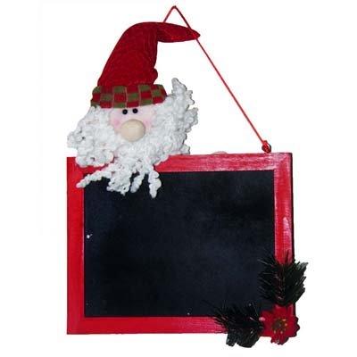 Quadro Negro Natal Papai Noel Decoracao Natalina (XF82-9F054A)