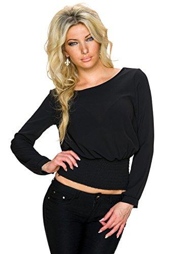 Fashion - Camiseta sin mangas - para mujer negro