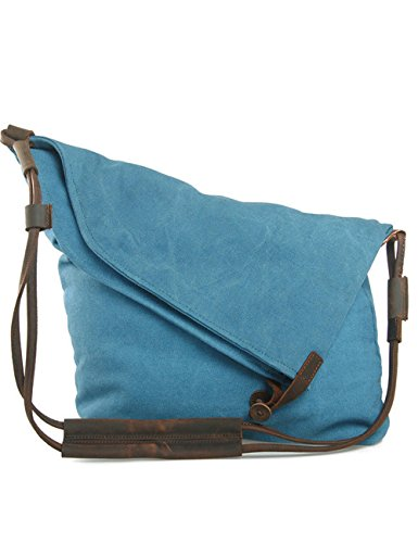 Shoulder Casual Hobo Bag Women's Bag Multifunction UONBOX Blue Retro Bag Travel Daypack Canvas Messenger Bag Shoulder wvI7ax1