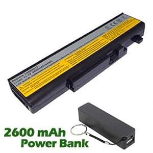 Battpit Bateria de repuesto para portátiles Lenovo IdeaPad Y460 - 06334HU (4400 mah) con 2600mAh Banco de energía / batería externa (negro) para Smartphone