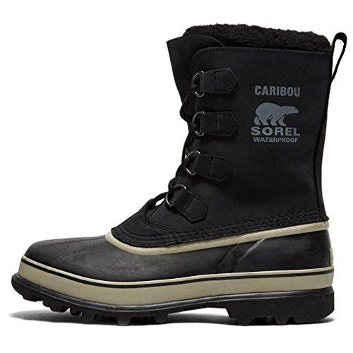 - Sorel Men's Caribou NM1000 Boot,Black/Tusk,10 M