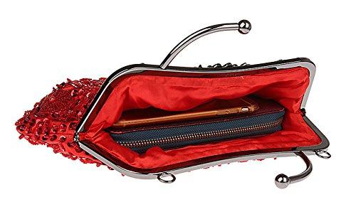 rouge Pochette femme unique Aronvivi Red taille pour Red CRtdwEwqx