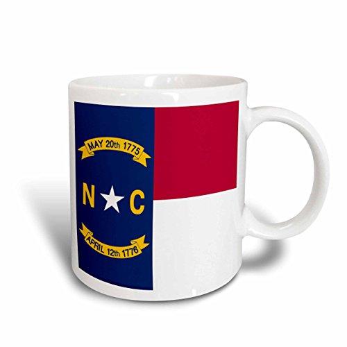 3drose Flag of North Carolina, USA, Great Seal, Red White Blue, Ceramic Mug, (North Carolina Seal)