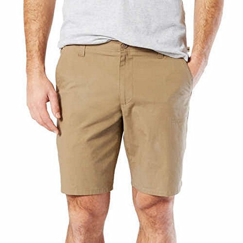 Men's Dockers comfort Straight Fit Stretch Utility Short (34, Khaki) (Shorts Khaki Stretch)