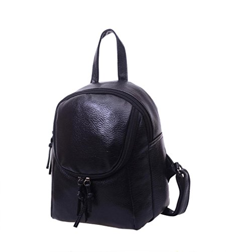 Shoulder Korean Leather Pu Female Casual Tide Backpack Mini Euone Black Bag Fdqw5xFC