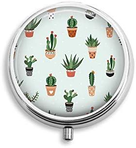 Cactus Background Round Pocket Purse product image