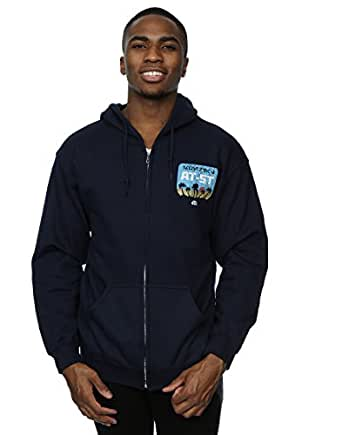 Star Wars Men's Rogue One AT-5T Death Star Skyline Zip Up Hoodie XX-Large Deep Navy