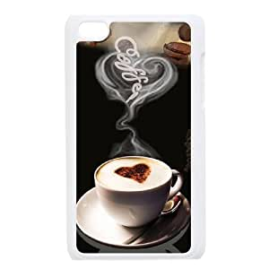 Ipod Touch 4 2D Customized Hard Back Durable Phone Case with Gourmet coffee Image