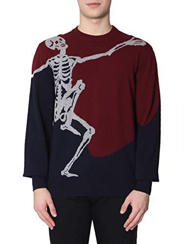 (Alexander McQueen Men's 506993Q1wjg6138 Burgundy Wool Sweater )