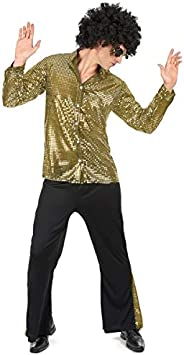 Juego para el año estilo del hombre del brillo del disco disfraz 80 L ...